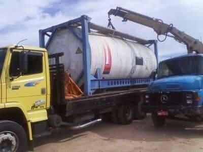 Movimentação de cargas pesadas