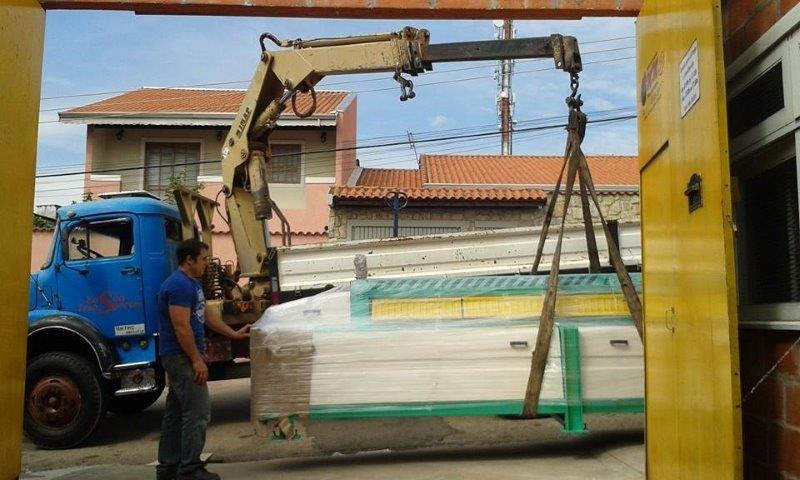 Mudança de máquinas pesadas