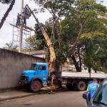 Movimentação de cargas caminhão munck