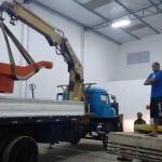 Mudança de maquinas pesadas